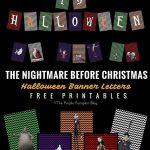 The Nightmare Before Christmas   Halloween Party Printables   Free Printable Nightmare Before Christmas Birthday Invitations