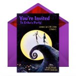 The Nightmare Before Christmas Party Online Invitations   Disney Family   Free Printable Nightmare Before Christmas Birthday Invitations