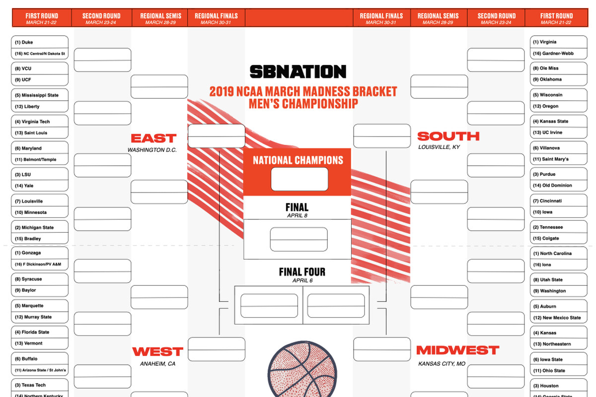 The Ultimate Guide To Filling Out Multiple Brackets - Sbnation - Free Printable Wrestling Brackets