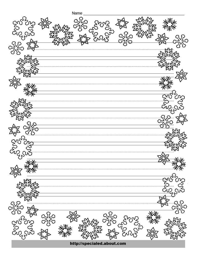 These Free Christmas Printables Are Perfect For Kids' Writing Tasks - Free Printable Christmas Writing Paper With Lines