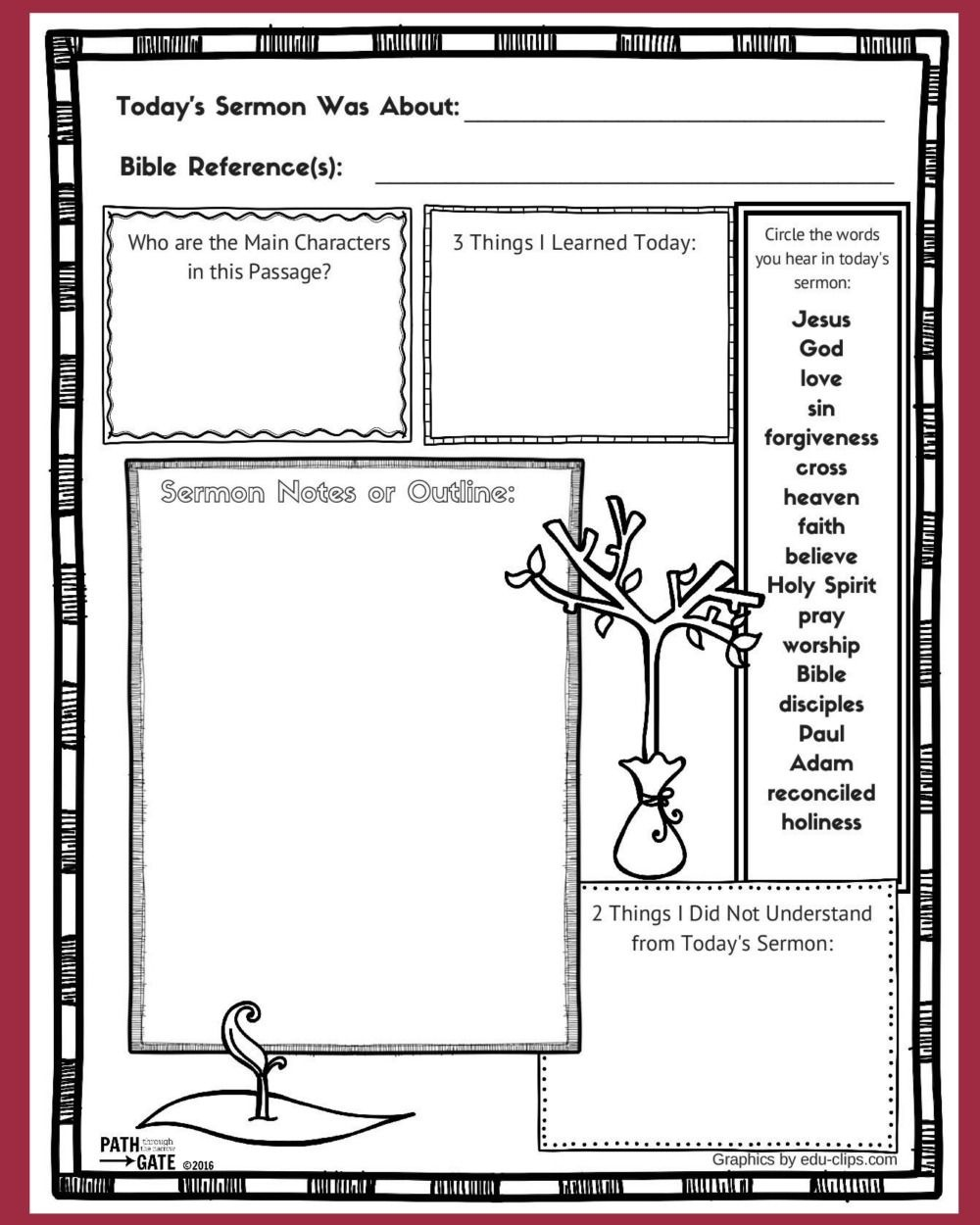 These Free Printable Sermon Notes Pages Include A Sunday Morning - Free Printable Easter Sermons
