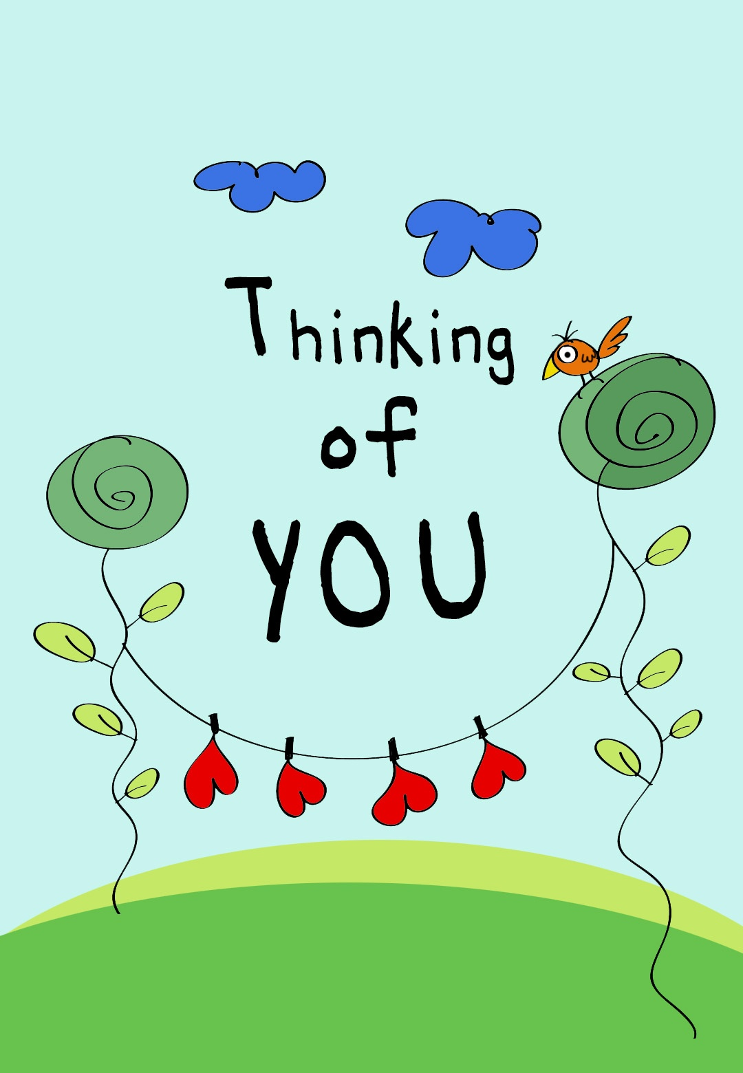 Thinking Of You - Love Card (Free)   Greetings Island - Free Printable Funny Thinking Of You Cards