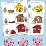 Three Little Pigs Sequencing Cards | Nursery Ryhmes, Folk Tales   Free Printable Stories For Preschoolers