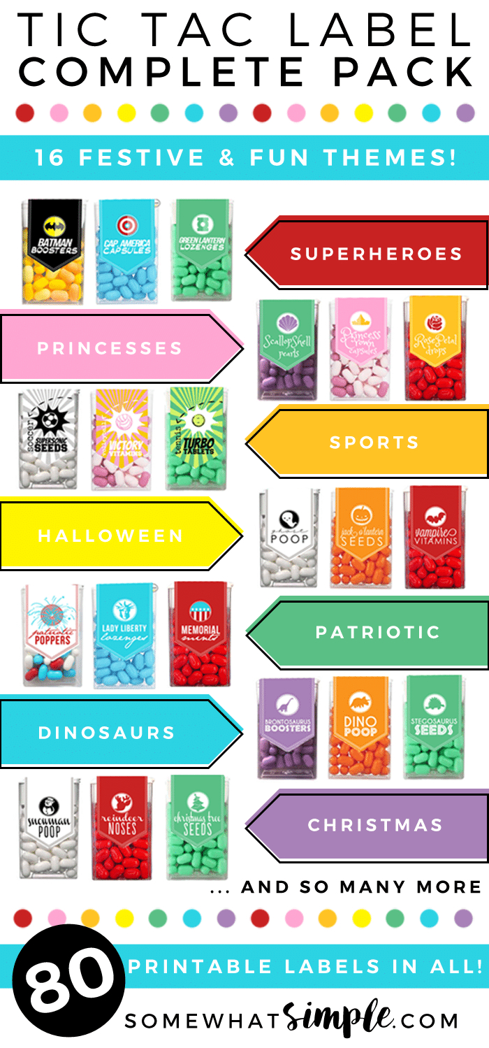 Tic Tac Stickers - Printable Labels Mega Pack - Somewhat Simple - Free Printable Tic Tac Labels