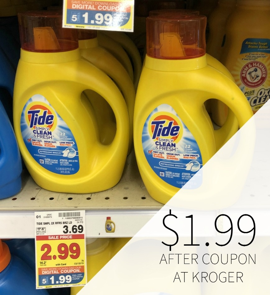 Tide Simply Coupon I Heart Kroger - Free Printable Tide Simply Coupons