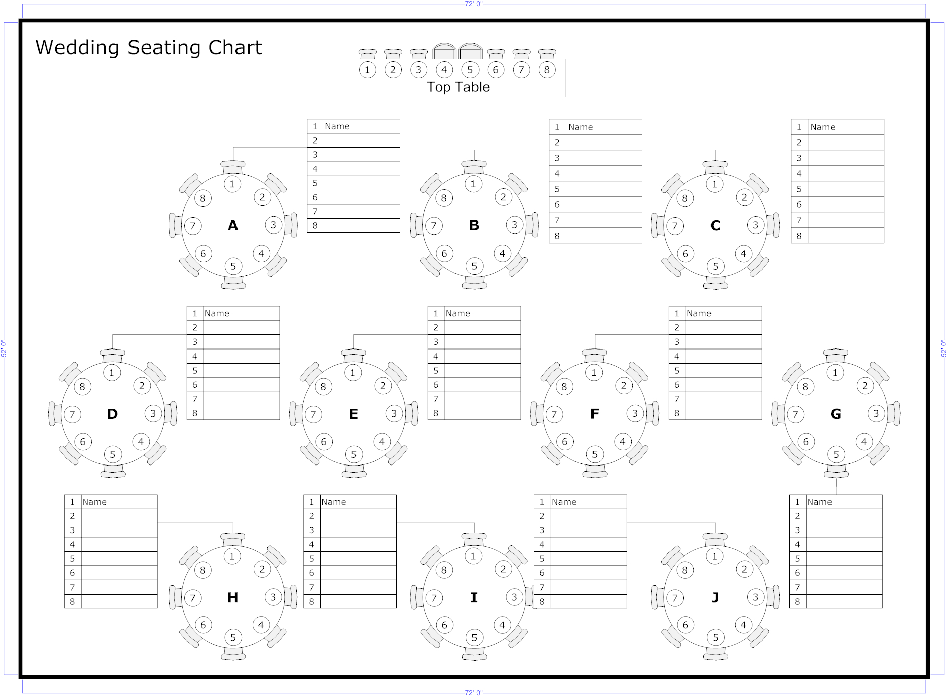 Tips To Seat Your Wedding Guests | Wedding Ideas | Seating Chart - Free Printable Wedding Seating Chart Template