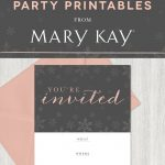 Tis The Season To Party! Extend A Stylish Invitation To Your Guests   Mary Kay Invites Printable Free