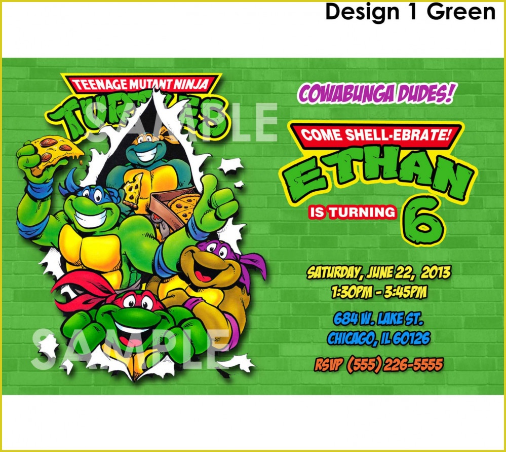 Tmnt Party Invitations Free – Unique Birthday Party Ideas And Themes - Free Printable Tmnt Birthday Party Invitations