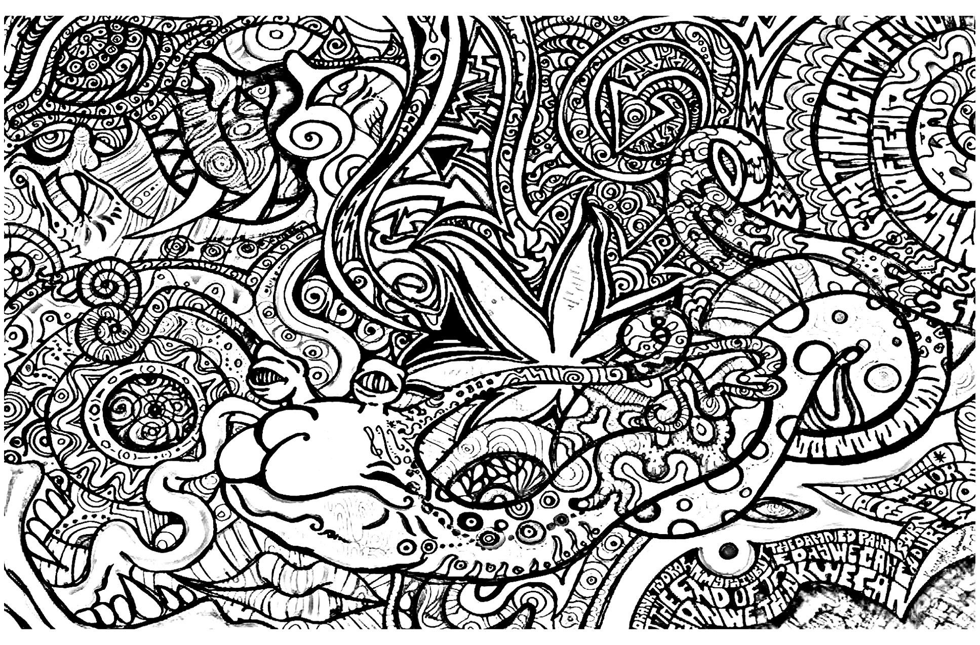 To Print This Free Coloring Page «Coloring-Psychedelic-3», Click On - Free Printable Trippy Coloring Pages