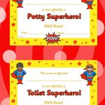 Toilet And Potty Superhero Certificate  Twinkl | Early Years   Free Printable Superhero Certificates