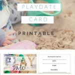 Too Cute Playdate Cards Printable! Via @ City Of Creative Dreams   Free Printable Play Date Cards