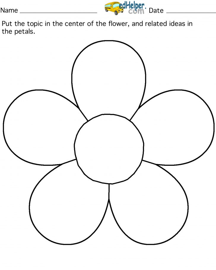 5 Petal Flower Template Free Printable