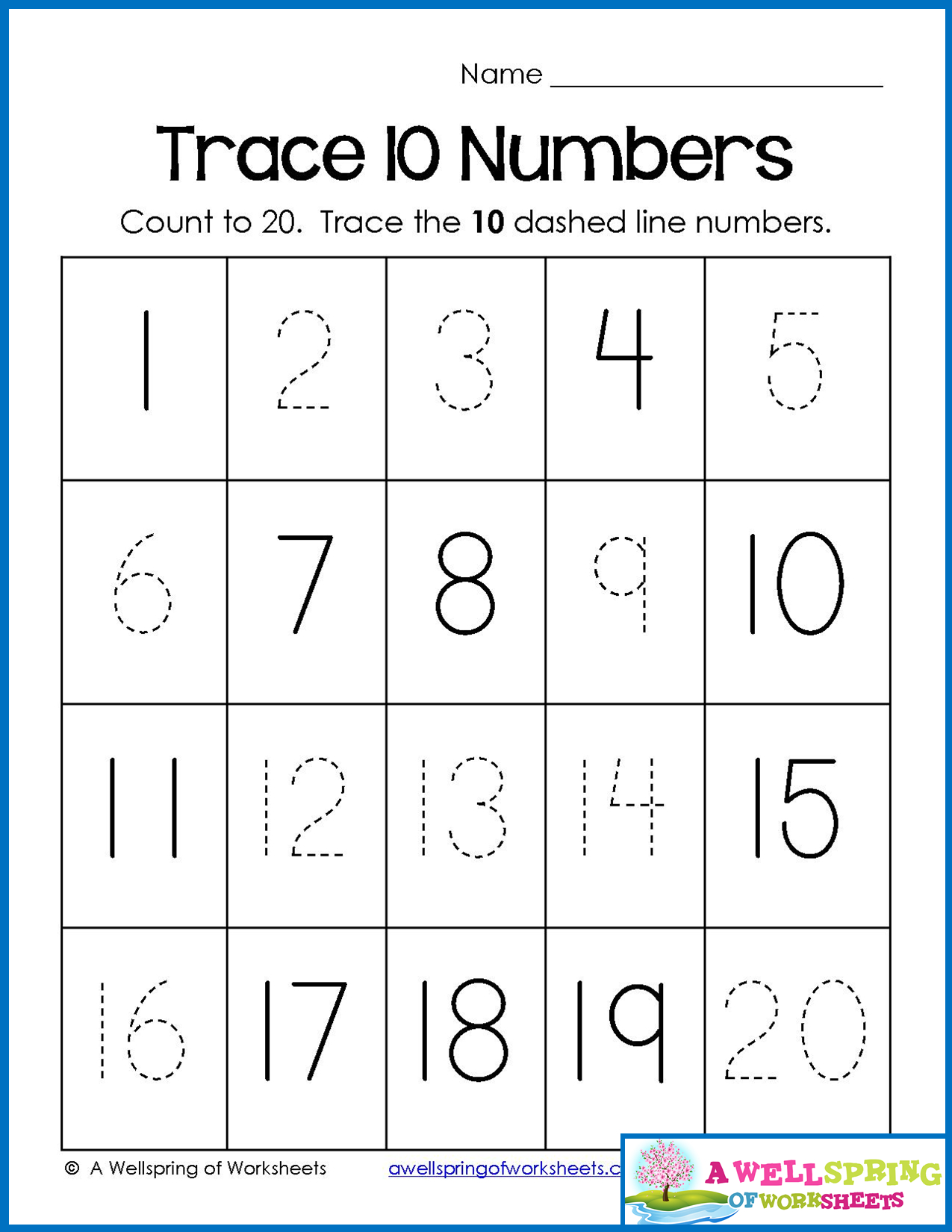 Trace Numbers 1-20, Write And Fill In The Numbers, Too | Number - Free Printable Numbers 1 20 Worksheets