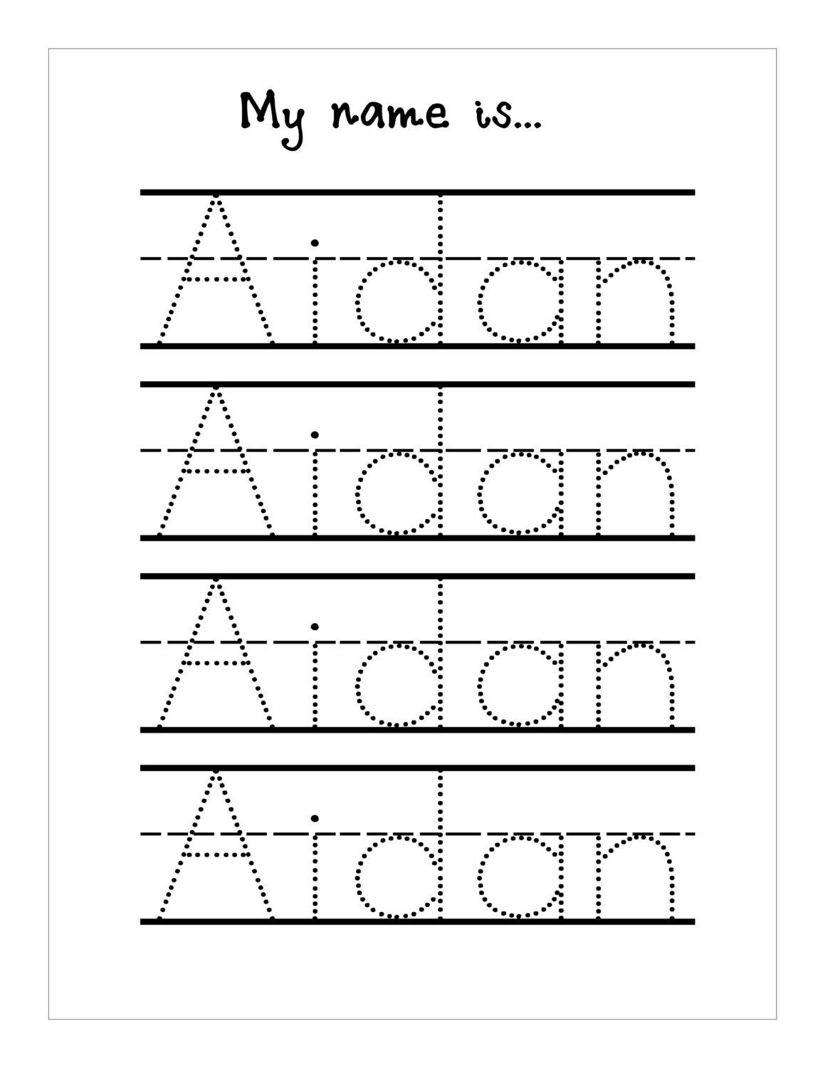 Trace Your Name Worksheet Printable Kiddo Shelter | Best Worksheet - Free Printable Name Tracing Worksheets