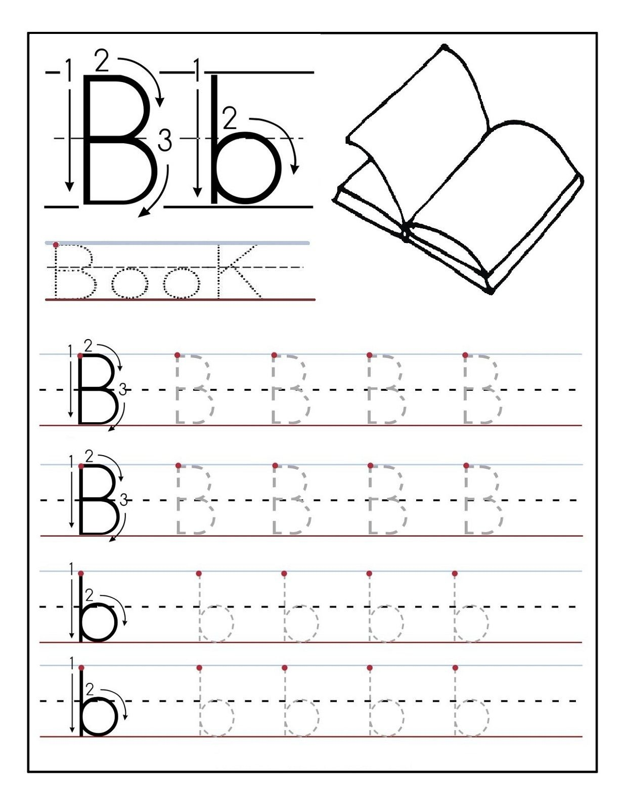 Traceable Letters Worksheet For Children Golden Age Activities - Free Printable Traceable Letters