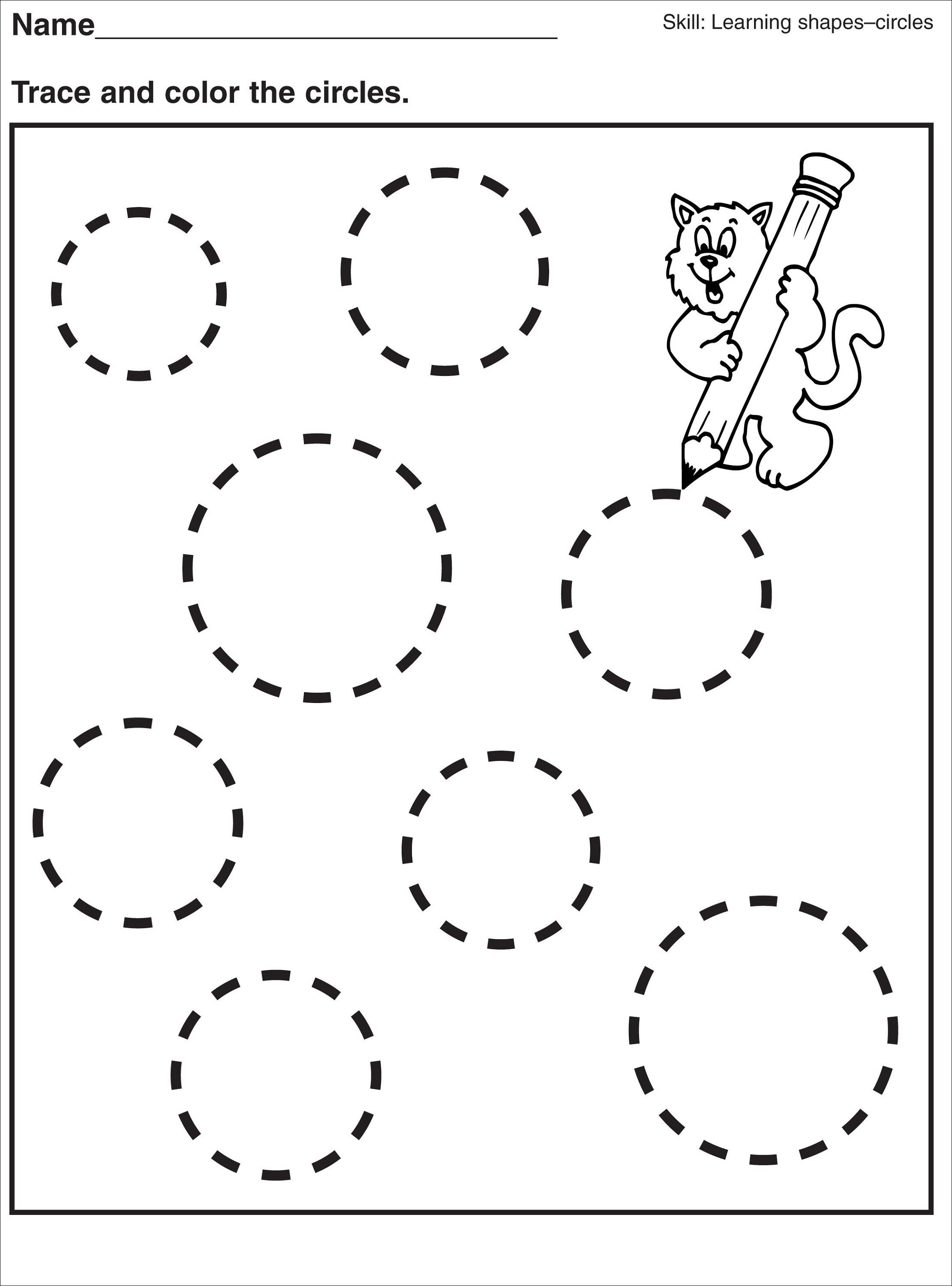 Tracing Pages For Preschool   Kids Worksheets Printable - Free Printable Preschool Name Tracer Pages