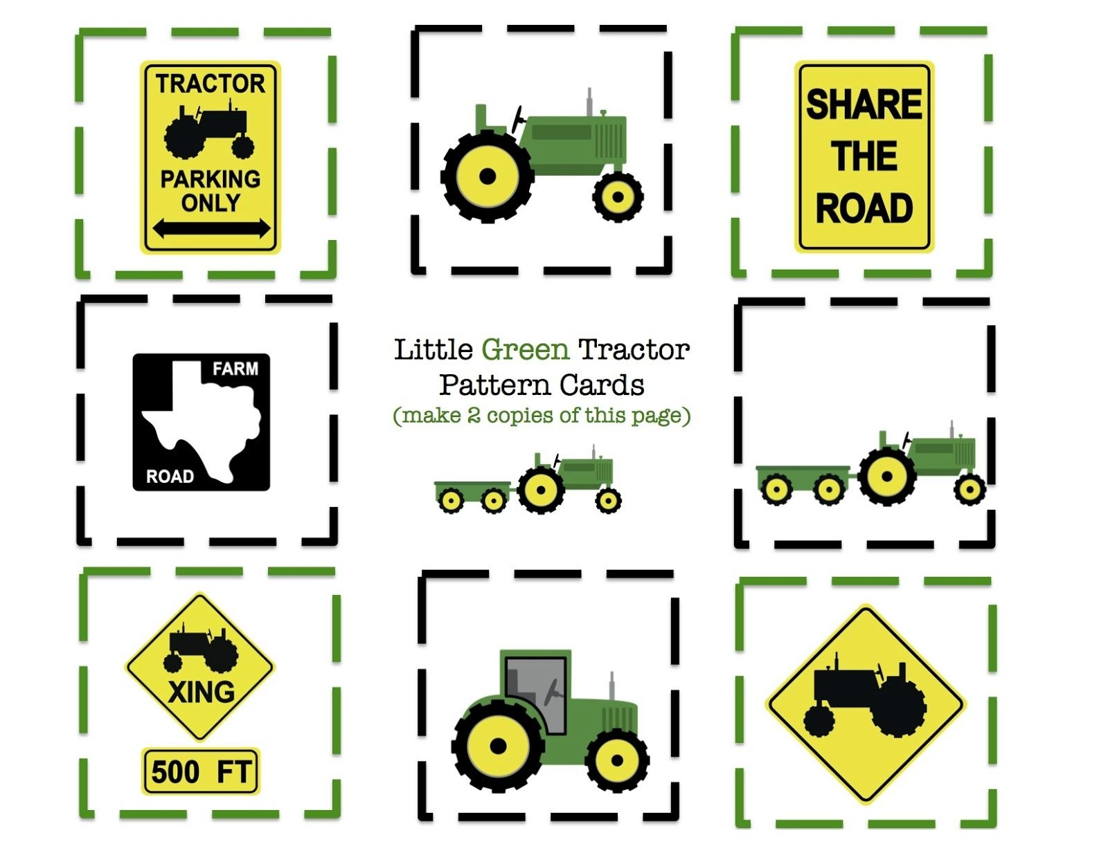 Tractor Printable ~ Cut, Craft And Use For Cupcake Toppers {*for A - Free Printable John Deere Food Labels