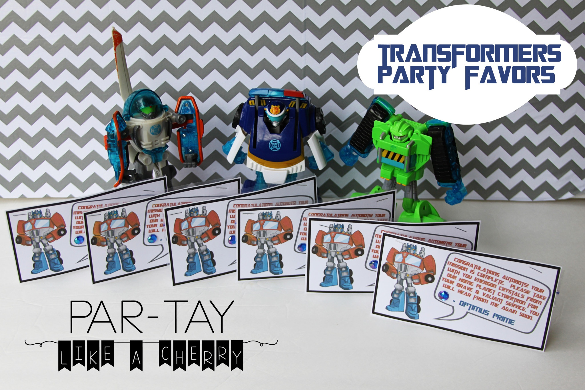Transformer Party Favors - Party Like A Cherry - Transformers Party Invitations Free Printable