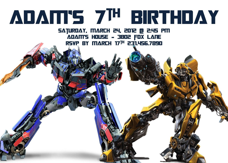 Transformers Birthday Invitation Template | Party - Alistairs 5Th - Transformers Party Invitations Free Printable