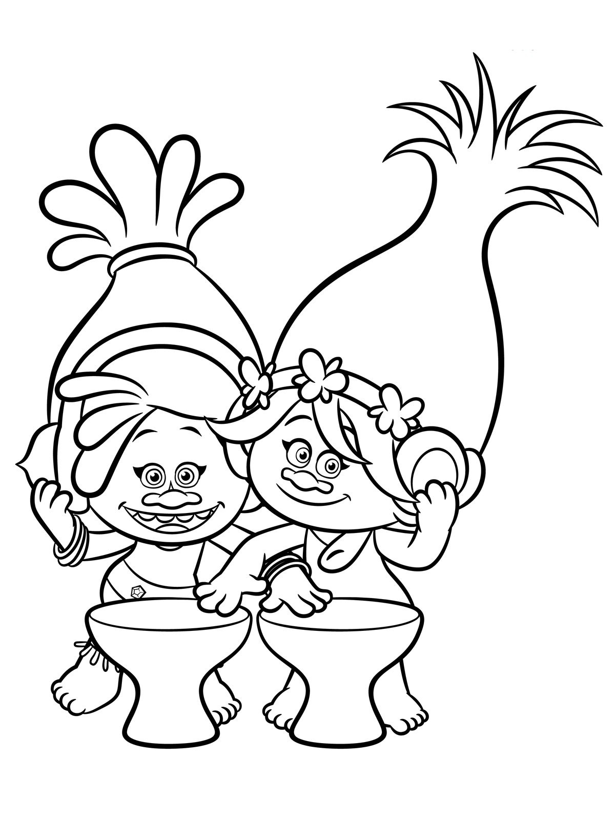 Trolls Coloring Pages To Download And Print For Free | Colouring - Free Printable Troll Coloring Pages