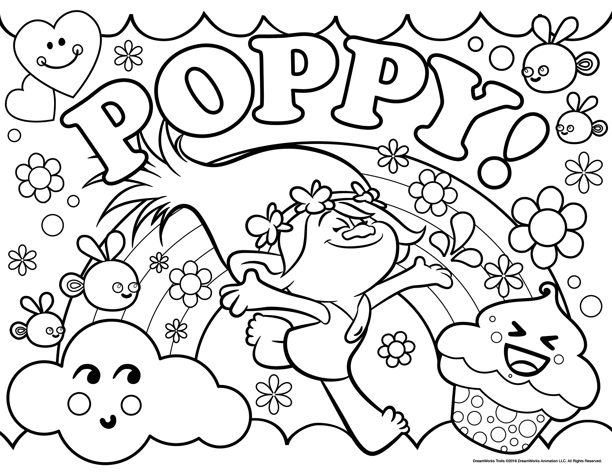 Trolls Movie Coloring Pages - Best Coloring Pages For Kids - Free Printable Troll Coloring Pages