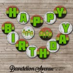 Turtle Ninja Birthday Printable Banner | Dandelion Avenue   Free Printable Ninja Turtle Birthday Banner