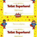 Twinkl Resources >> Toilet Superhero Certificate >> Thousands Of   Free Printable Superhero Certificates