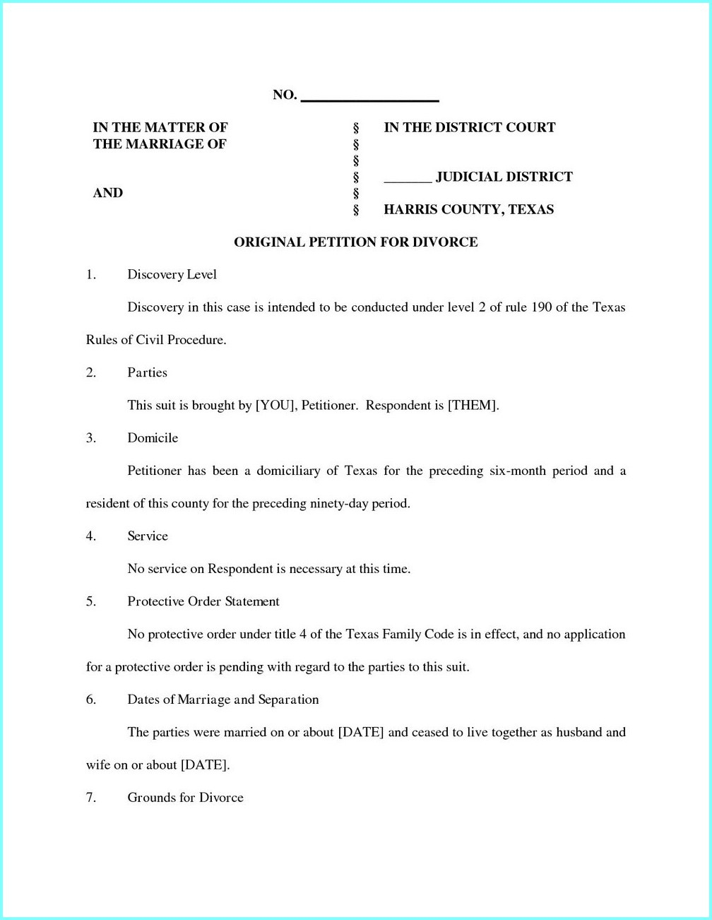 Uncontested Divorce Forms In Ga - Form : Resume Examples #5R4Zgva3L8 - Free Printable Divorce Forms Texas