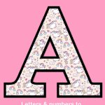 Unicorn Letters & Numbers To Print 3   Free Printable Alphabet   Printable Alphabet Letters Free Download