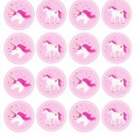Unicorn Stickers & Cupcake Toppers | Party: Unicorn | Unicorn   Free Printable Unicorn Cupcake Toppers