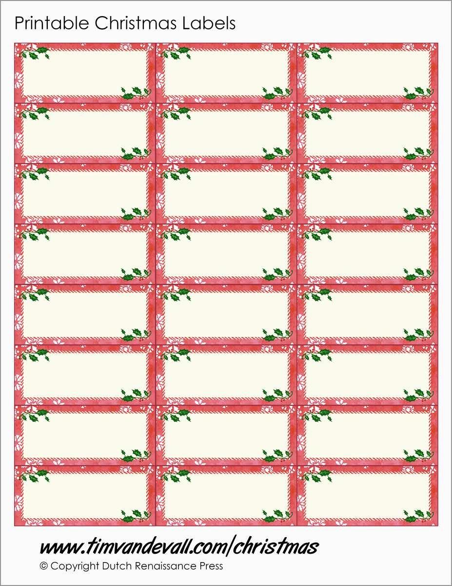 Unique Christmas Labels Free Printable Templates | Best Of Template - Christmas Labels Free Printable Templates