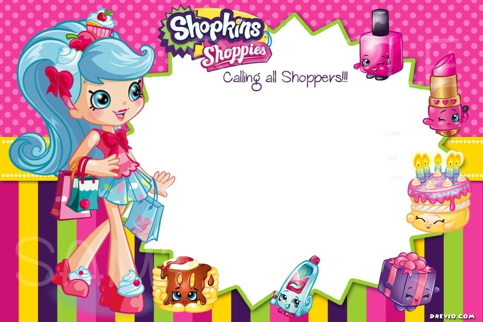 Updated - Free Printable Shopkins Birthday Invitation | Free - Shopkins Banner Printable Free
