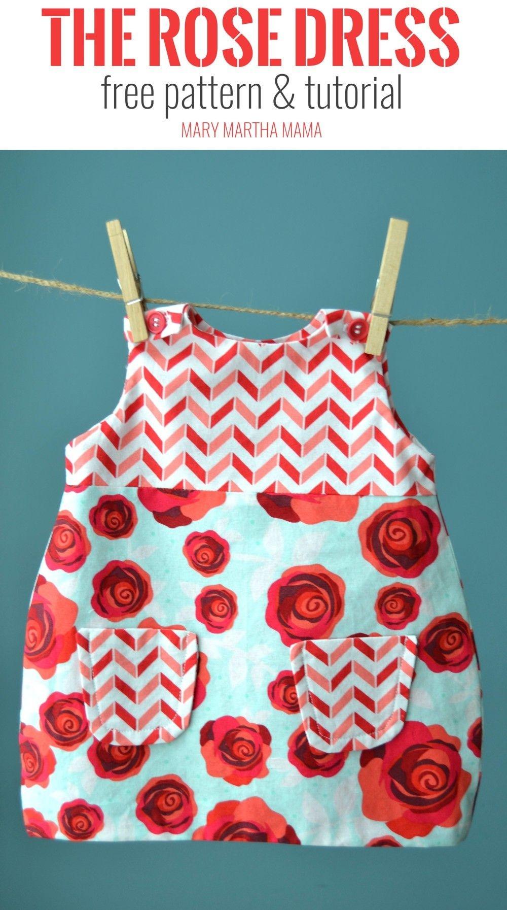 Use This Free Printable Pdf Pattern To Make A Diy Lined Baby Dress - Free Printable Toddler Dress Patterns