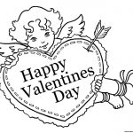 Valentine Sweet Cupid Coloring Pages Printable   Free Printable Pictures Of Cupid