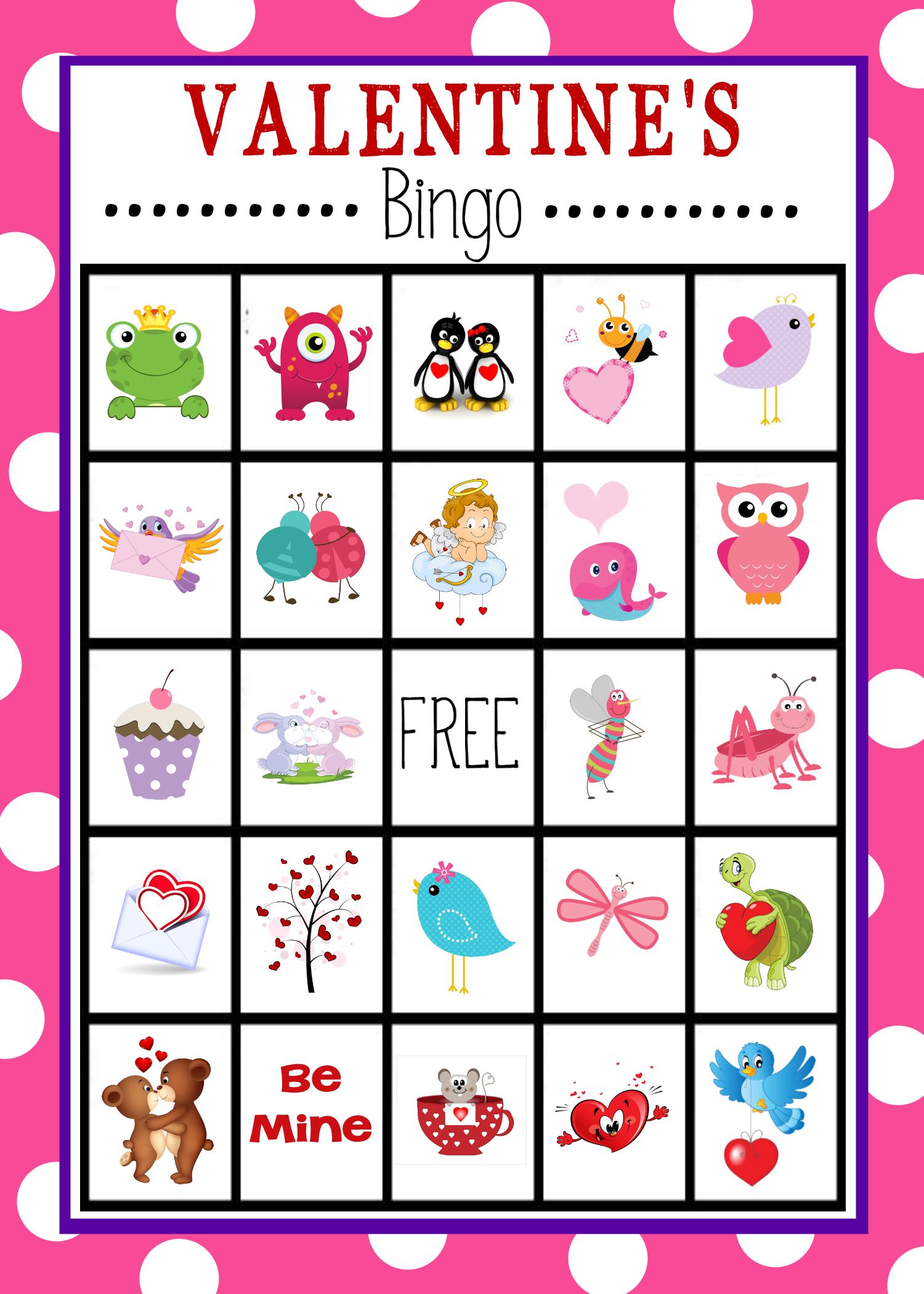 Valentine's Bingo Game To Print & Play | Valentine's Day Activities - Free Printable Valentines Bingo
