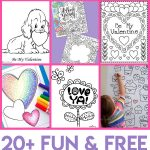Valentines Coloring Pages   Happiness Is Homemade   Free Printable Valentine Decorations