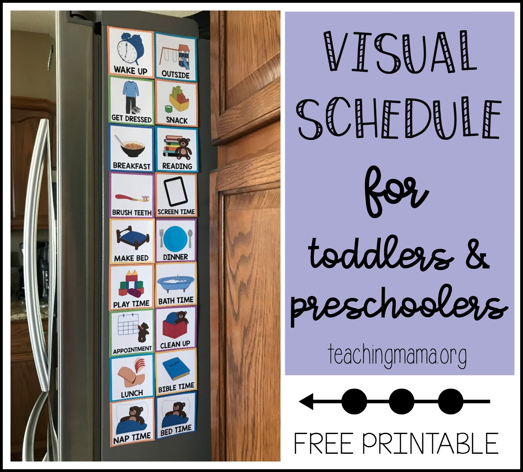 Visual Schedule For Toddlers - Free Printable Picture Schedule For Preschool