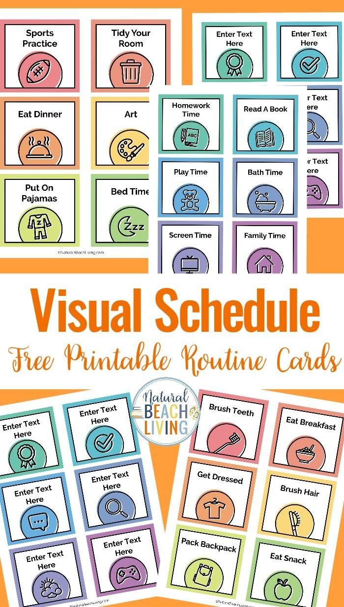 Visual Schedule - Free Printable Routine Cards | Diy | Visual - Free Printable Daily Routine Picture Cards