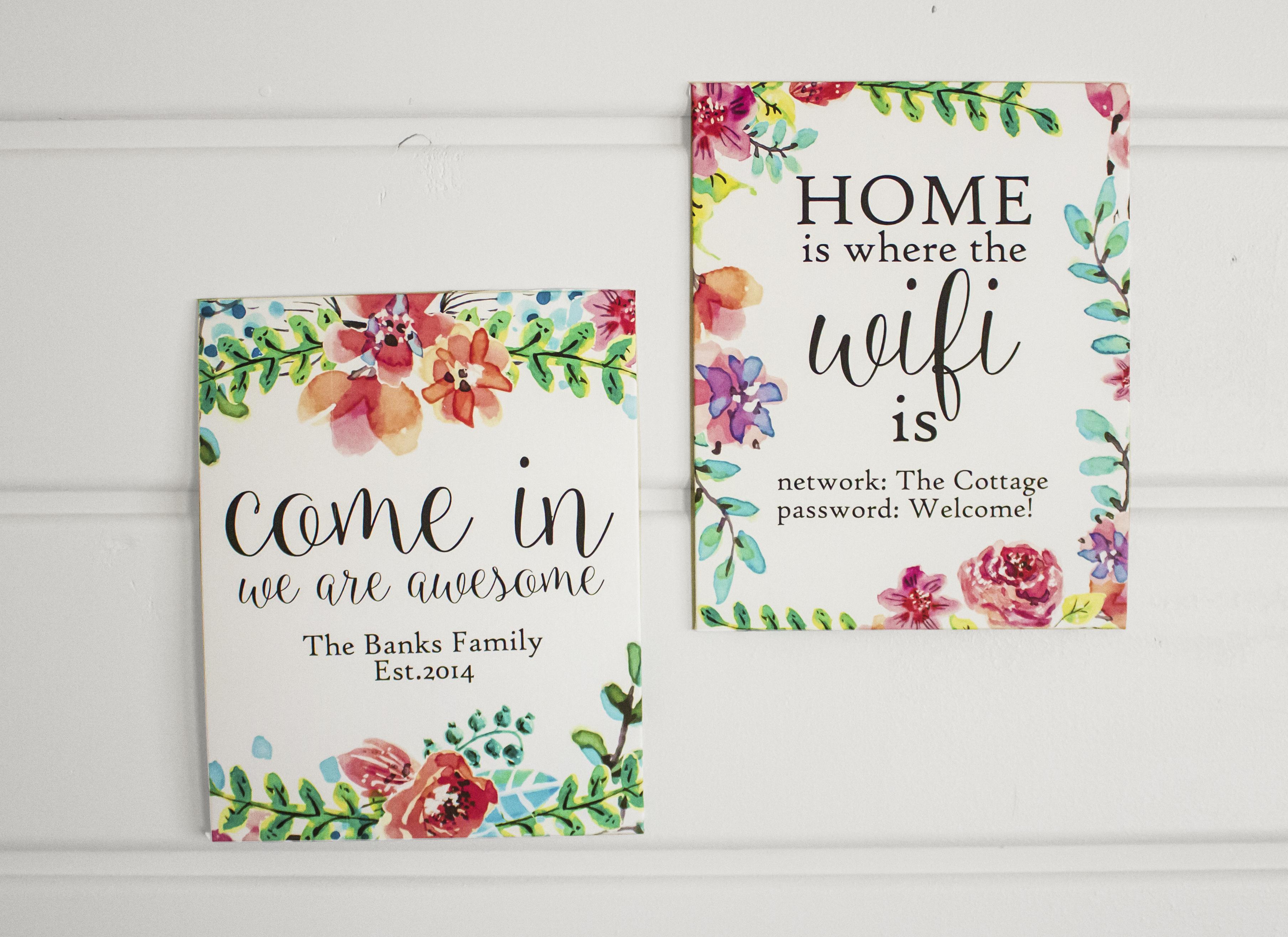 Watercolor Custom Wall Art Free Printable - Nufun Activities - Free Printable Custom Signs