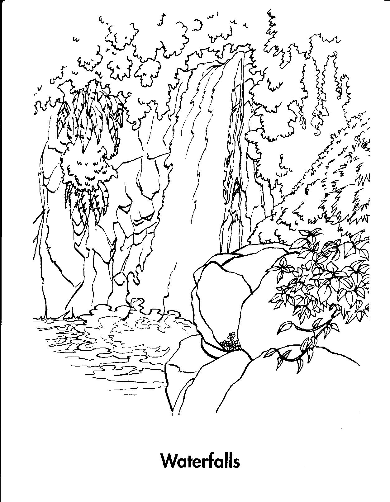 Waterfall Coloring Pages Printable | Photos | Insect Coloring Pages - Free Printable Waterfall Coloring Pages