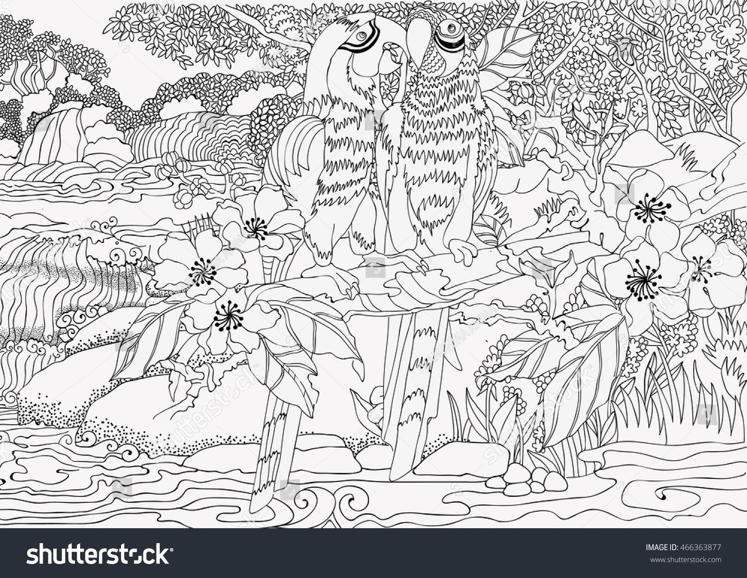 Waterfall Colouring Pages - Riodejaneiroorganicgrowers - Free Printable Waterfall Coloring Pages