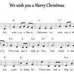 We Wish You A Merry Christmas | Karaoke Carols For Kids   Free Printable Lyrics To Christmas Carols