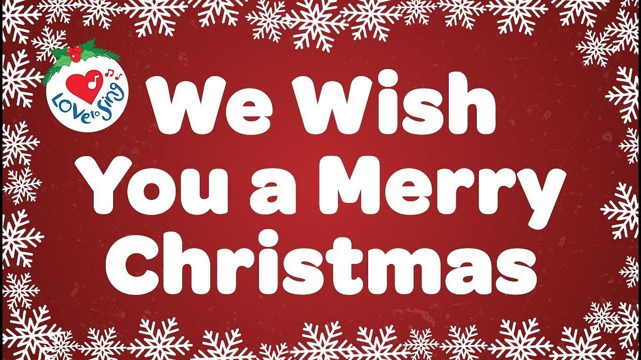 We Wish You A Merry Christmas With Lyrics Christmas Carol & Song - We Wash You A Merry Christmas Free Printable