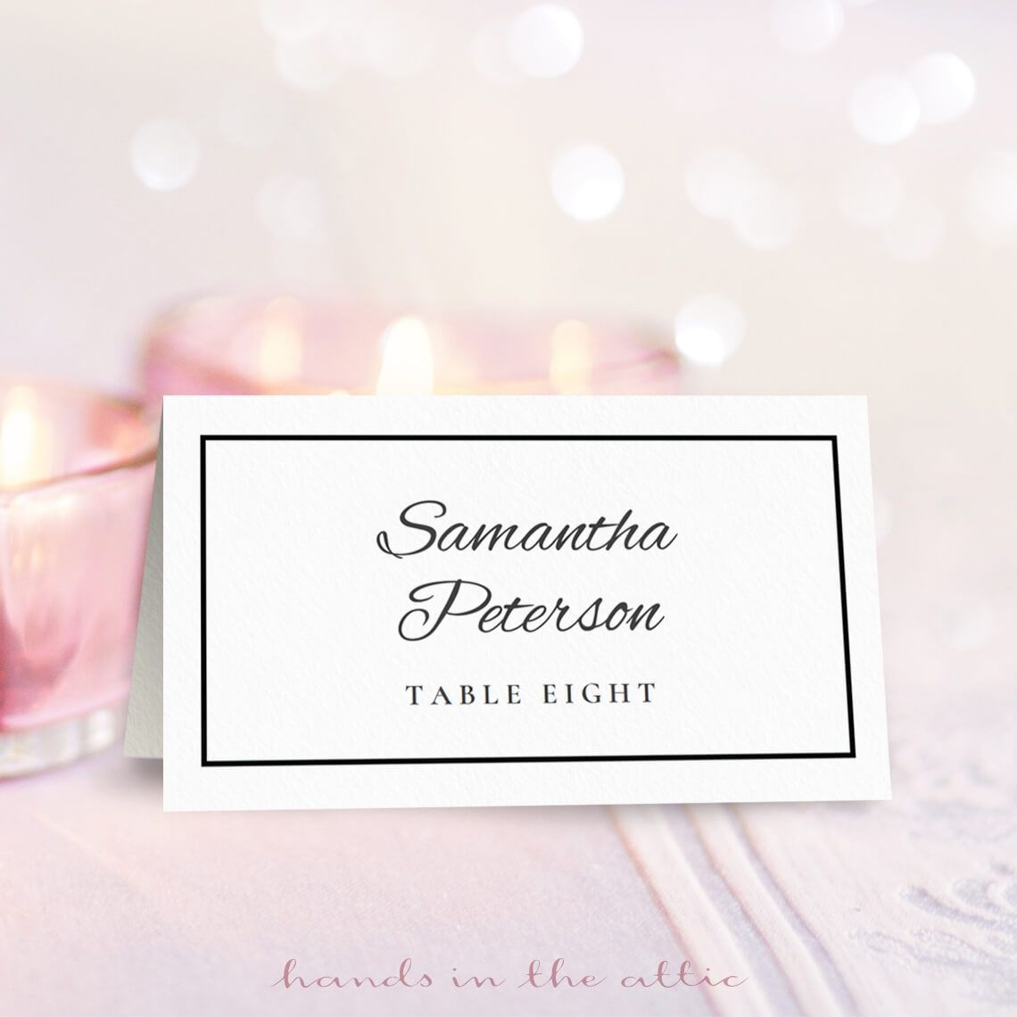 Wedding Place Card Template | Free On Handsintheattic | Free - Free Printable Damask Place Cards