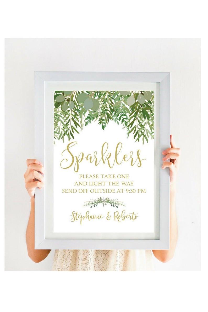 Wedding Sparkler Send Off Sign Editable Pdf Wedding | Etsy - Free Printable Wedding Sparkler Sign