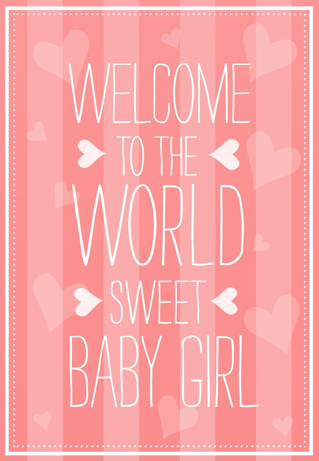 Welcome To The World - Free Baby Shower & New Baby Card | Greetings - Free Printable Welcome Cards