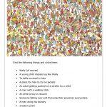 Where's Wally / Focusing On A Task Worksheet   Free Esl Printable   Where Waldo Printable Free