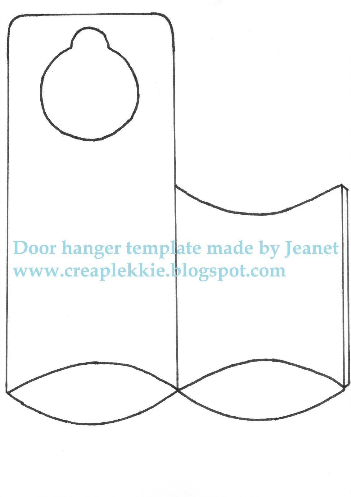 Whiff Of Joy - Tutorials & Inspiration: Door Hanger Template | Paper - Free Printable Door Knob Hanger Template