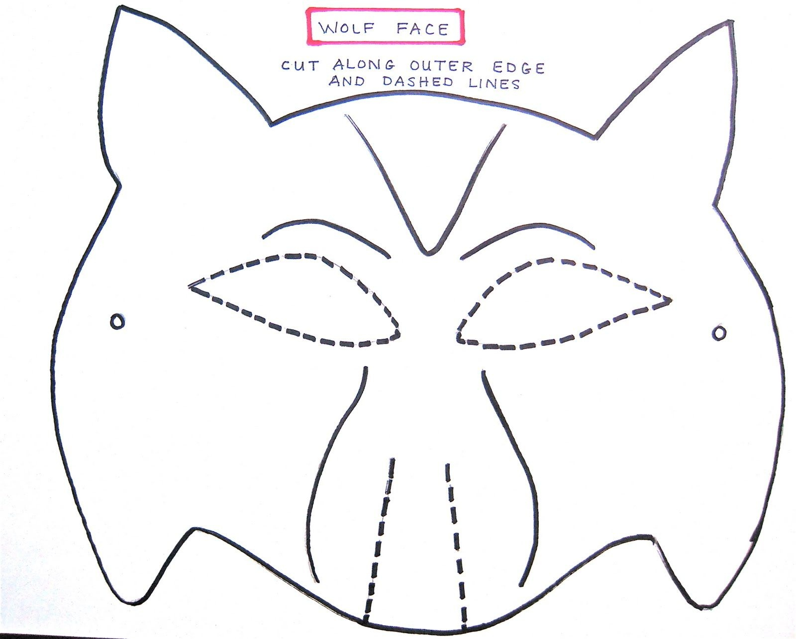 Wolf Mask Template For Preschoolers | Making The Wolf Mask | Kids - Free Printable Wolf Mask
