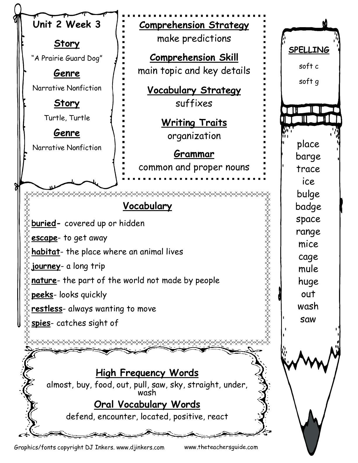 Free Printable Worksheets For 2Nd Grade Social Studies ...